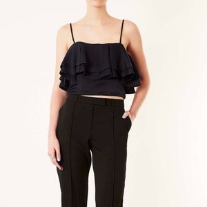 TopShop Eyelet Lace Trim Camisole Top